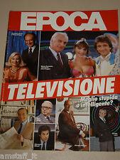 EPOCA=1986/1883=RAFFELLA CARRA=TOTI BOTTA=EZIO GREGGIO=ARRIGO LEVI=ENZO BIAGI=TV