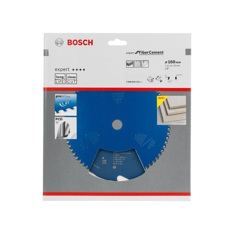 Bosch HM-Sägeblatt 160x2,2x20 Z4 2608644121 Expert for Fiber Cement Handkreissäg