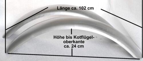 Kotflügel 2 Stück für 20 Zoll Reifen Länge ca 102 cm für Traktor Schlepper 70303