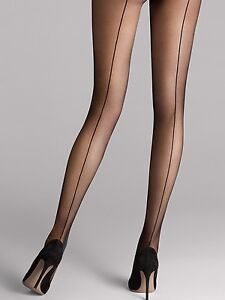 f80560e6e6ecf8 Image is loading Wolford-Individual-10-Back-Seam-Tights-Tights-with-