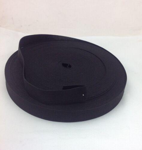 Top Quality Flat Elastic Band 20mm Black