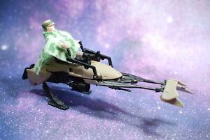 VINTAGE-Star-Wars-COMPLETE-ENDOR-SPEEDER-BIKE-Princess-Leia-PONCHO-FIGURE-KENNER