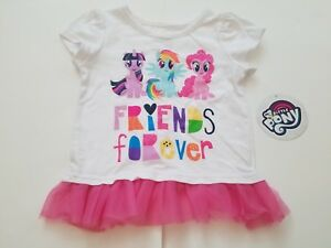 9a1999837 Girl's My Little Pony Friends Forever Pink T-Shirt, Size 3T 4T, New ...