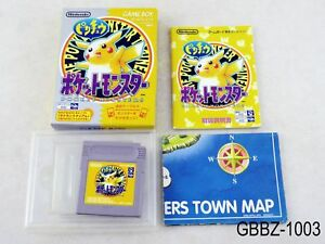 Details about Complete Pokemon Yellow w/map Japan GB GBC Game Boy Japanese  Import US Seller B