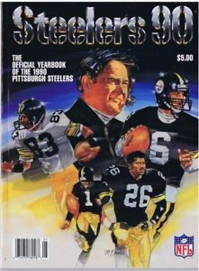 1990 PITTSBURGH STEELERS YEARBOOK - Chuck Noll Rod Woodson Louis Lipps