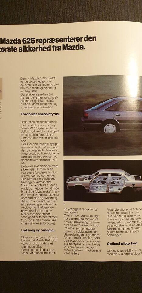 Brochure, Mazda 626