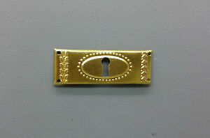 Furniture-Fitting-Old-Brass-Key-Case-Key-Sign-2-7-8in-M003