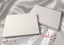 A5 White Linen Finish Wedding Guest Book - boxed FREE 'Sign the Guestbook' card