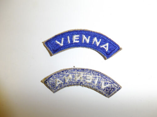 b5373 Post WW 2 Occupation US Forces Vienna tab worn over Austria patch A7B5