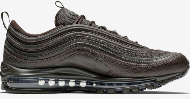 Nike Air Max 97 Brown Black White Men's Running Shoes Sneakers