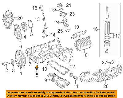 New Genuine Mercedes-Benz Upper Oil Pan Plug 000908014009 OEM