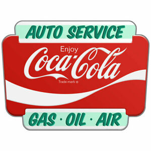 Coca-Cola Auto Service Marquee Decal Peel & Stick Wall Graphic
