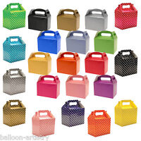 Coloured Polka Dots Spots Children's Birthday Party Paper Lunch Loot Gift Boxes