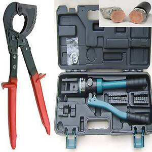150mm-RATCHET-CABLE-CUTTERS-X-10-300MM-HYDRAULIC-CRIMPERS-CRIMPING-TOOL-NEW