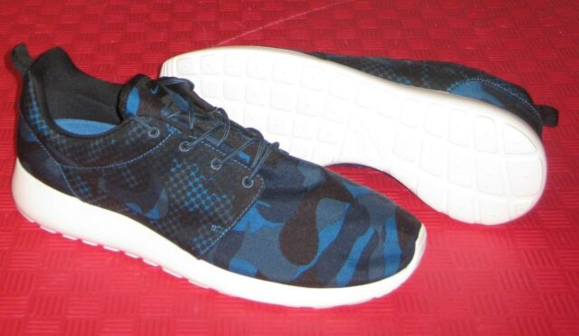 buy popular 2ed33 016dc NIKE ROSHE ONE PRINT ATHLETIC CASUAL SHOES 655206 404 SZ 13 BLUE CAMO NWOB  NR
