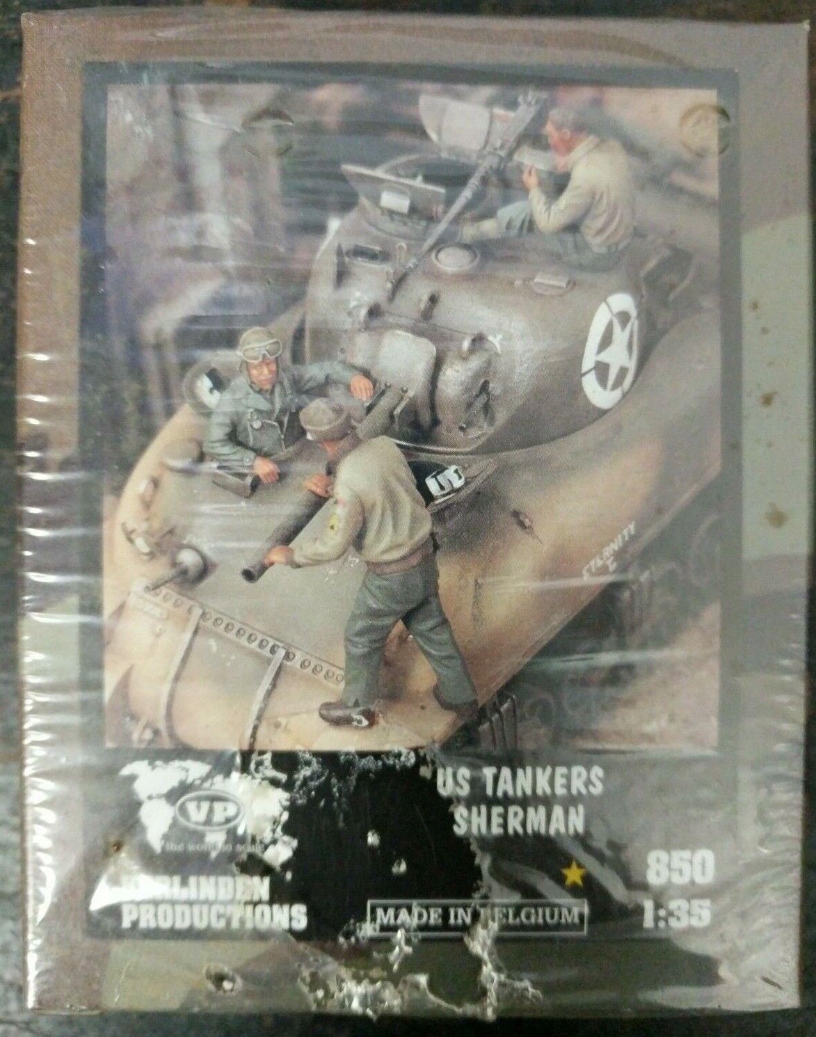 Sealed Verlinden 1 35 US Tankers On Sherman Figures WWII B1-4-H