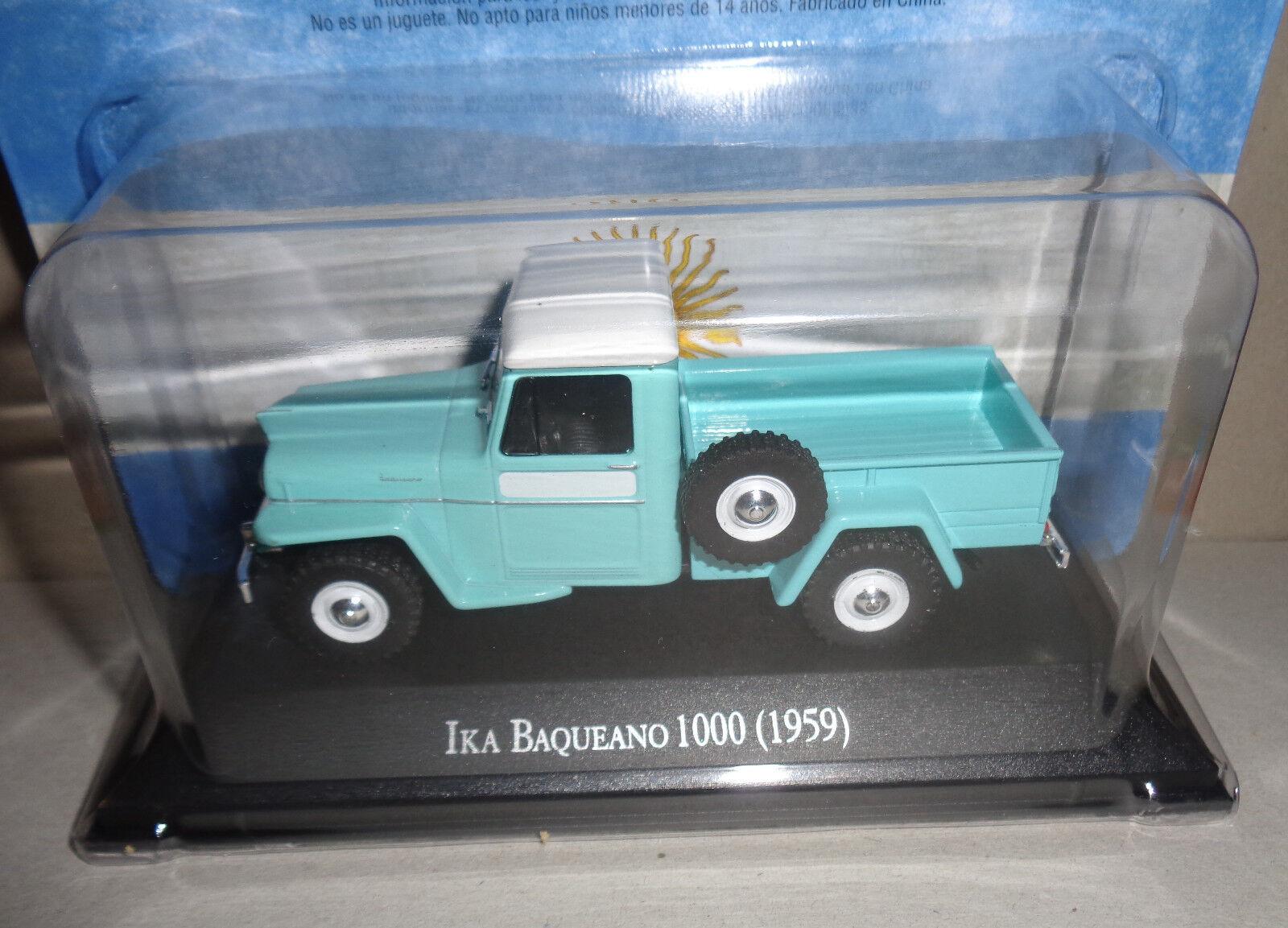 IKA BAQUEANO 1000 (1959)    silverINA diecast 1 43 car very rare NEW CONDITION 58ab67