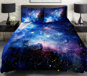Blue Galaxy Bedding Set Galaxy Twin Full Queen Duvet Cover Bed Sheet Pillowcase