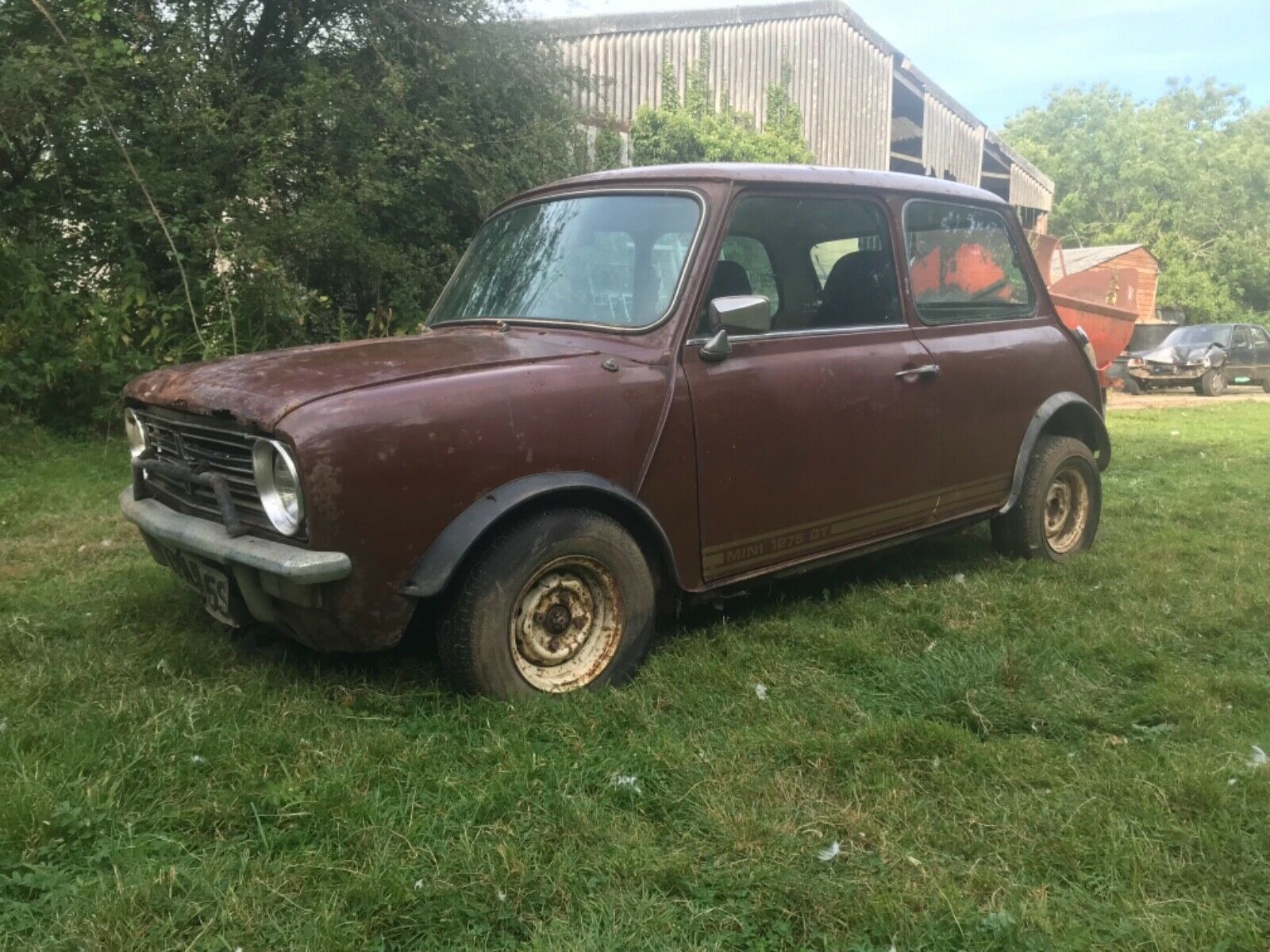 Classic mini 1275 GT 1977 barn find spares or repairs