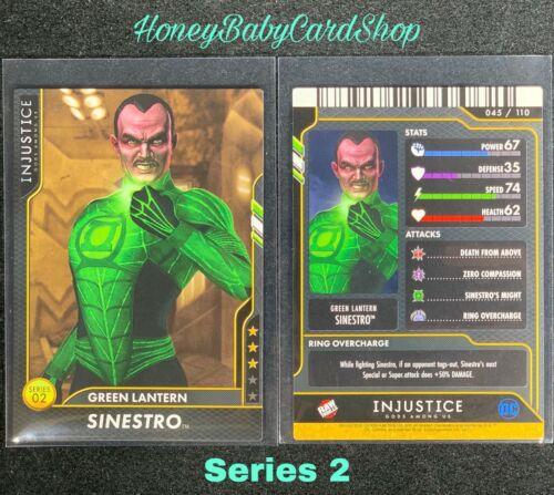 Injustice Arcade GEM MINT Series 2 Card 45 Green Lantern Sinestro