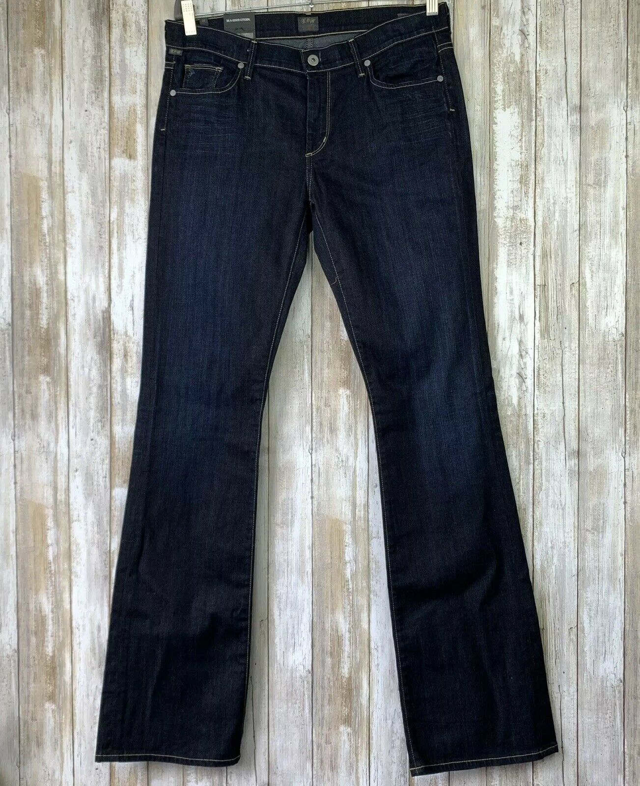 COH Citizens Of Humanity Amber Dark Wash High Waist Bootcut Jeans Size 32 NWT