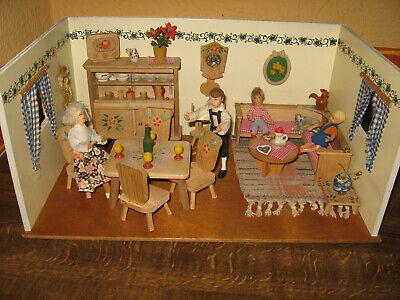 Puppenstube Dora Kuhn Mit 30er Jahre Rülke-möbel Puppenhaus Senility VerzöGern
