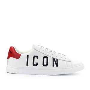 Chaussures Homme Baskets New Tennis Blanc Rouge Dsquared2 SS2021