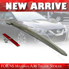 UNPAINTED FOR 16-19 NISSAN MAXIMA A36 REAR TRUNK SPOILER 4DR NEW TYPE