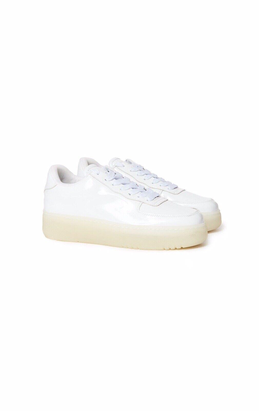 Jeffrey Campbell low top pure white court platform sneakers sz 8.5