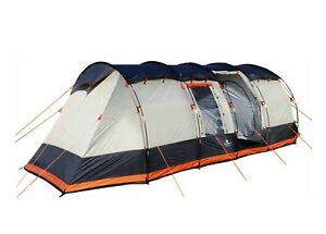 8-Berth-Tent-Family-Camping-Eight-Man-tent-OLPRO-Wichenford-2-0-Grey-amp-Orange
