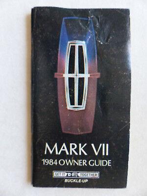 Honig Ford 1984 Mark Vii Owner Guide - Us-betriebsanleitung Operation Manual 1983 Usa Exzellente QualitäT