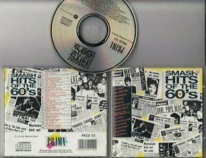 SMASH HITS OF THE 60'S 1987 CD PRIMA REC. Equals Foundations Troggs Love Affair