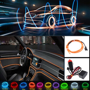 Car-Interior-Fiber-Optic-Neon-EL-Wire-Strip-Bar
