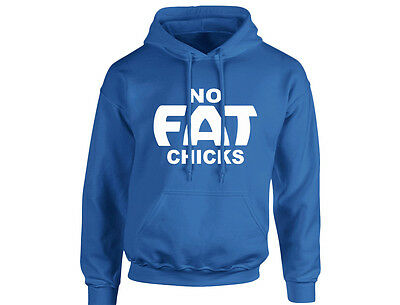 Aufstrebend No Fat Chicks Unisex Hoodie (8 Colours)