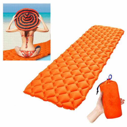 Compact Lightweight Inflatable Sleeping Mat Mattress Air Pad Roll Bed Camping UK