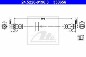 ATE 24.5228-0196.3 Bremsschlauch