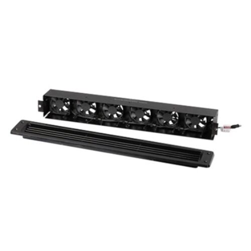 Cool Components VS-S6-BLK SlimSix Vent System with Plastic Grille Black
