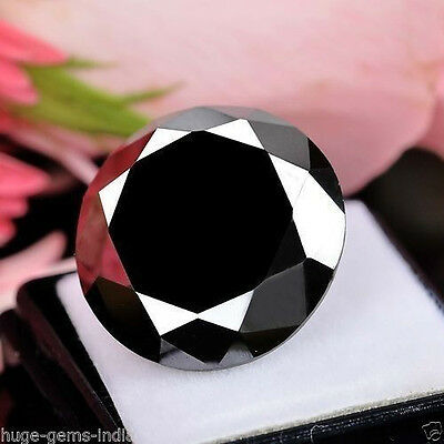 2.30 Ct Loose Round Brilliant Cut Black Diamond Moissanite Solitaire~ For Ring**