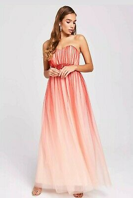 Women Long Maxi Evening Formal Sweetheart Bandeau Cocktail Party Dress 8-14