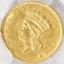 thumbnail 1 - 1856 Uncirculated Indian Princess Gold Dollar Slanted 5