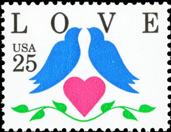 1990 25c Love, Doves Scott 2440 Mint F/VF NH