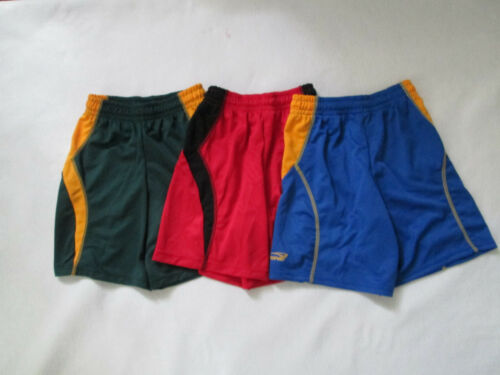 Boys Girls athletic shorts red black green gold royal small med large xl NEW