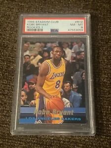 Kobe Bryant 1996 stadium club rookies #r12 psa 8