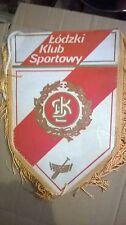 FOOTBALL Soccer Football Wall Pennant Flag POLAND LODZKY KLUB SPORTOWY LODZ