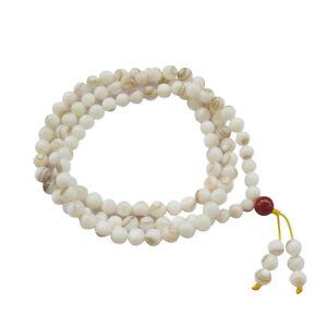 7mm-Sea-Shell-Tibet-Buddhist-108-Prayer-Beads-Mala-Necklace
