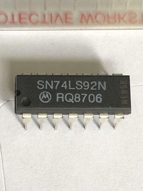 25 pieces x MOTOROLA SN74LS92N IC,SN74LS92N,DIP-14, DIVIDE-BY-12 COUNTER