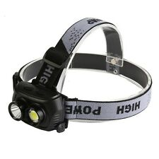 Rechargeable Outdoor 120 Lumens R5 LED Double LED Headlamp 180 Degree Adjustable