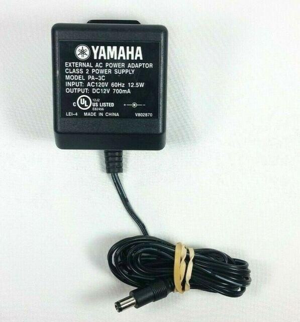 PA-3C Mains Power Supply Adapter Adaptor for Yamaha Keyboard DC 12v PA-6