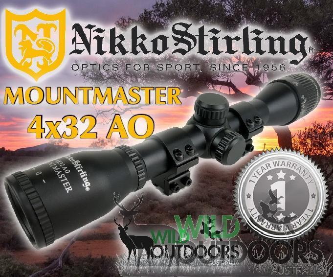 Nikko Stirling - Rimfire Rifle Scope - MountMaster - 4x32mm AO