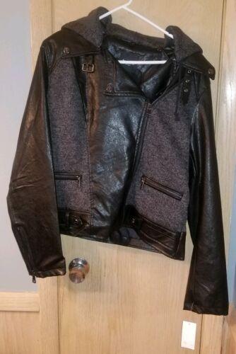 pelle Bebe Black maglione Giacca in PrtwvxPHq